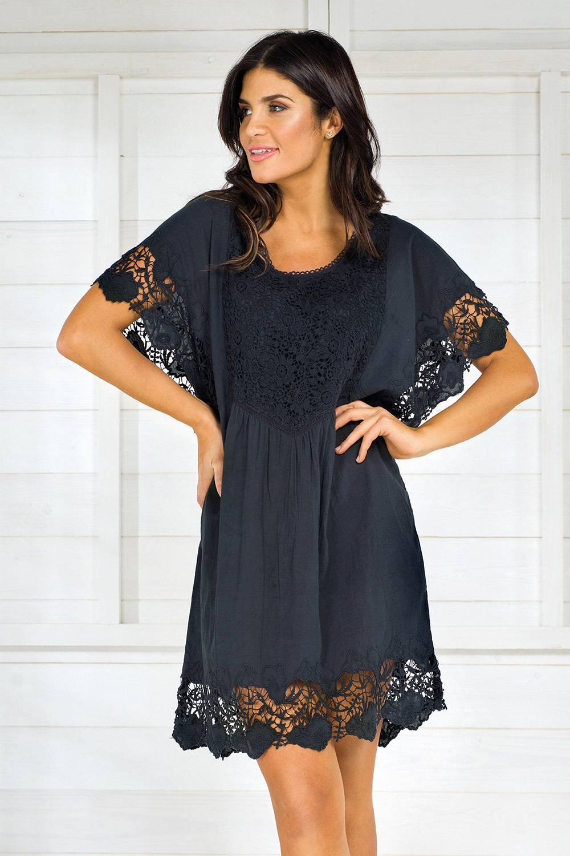 9068270145 Dámske talianske letné šaty Iconique IC8013 Black