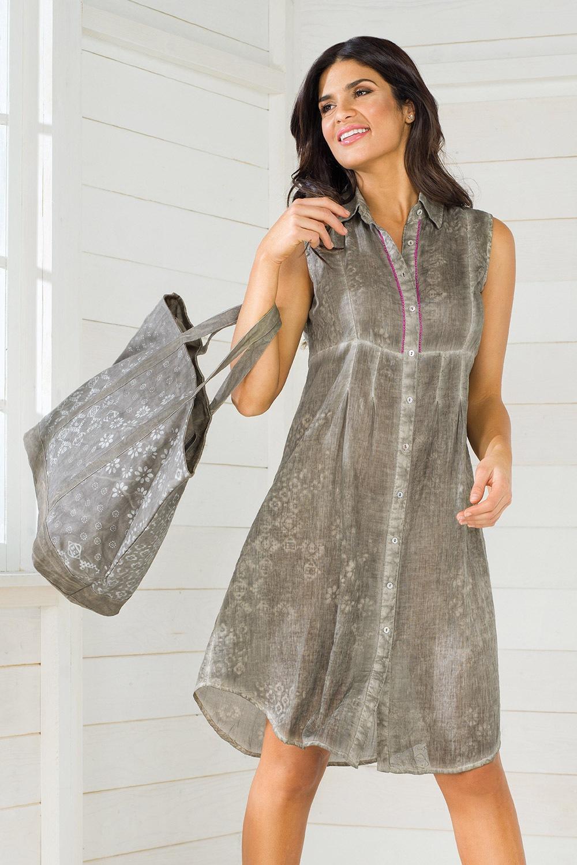 6347f8ba255c Dámske košeľové letné šaty z talianskej kolekcie Iconique IC8048 ...
