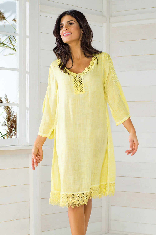 0d95bc900 Dámske talianske plážové šaty Iconique IC8057 Yellow | Astratex.sk