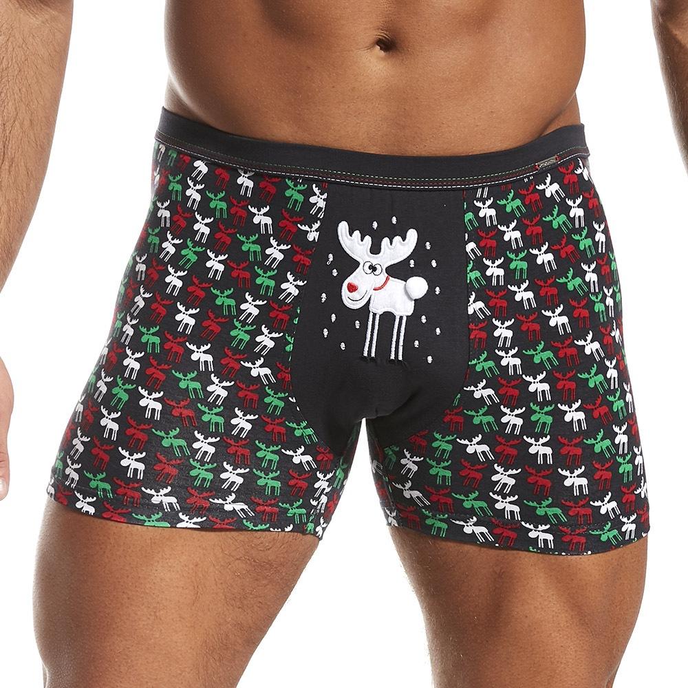 a76b4dd3fa38 Pánske boxerky Vianočné soby