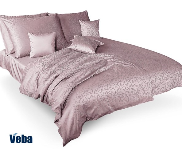 VEBA Tencel ágyneműhuzat, kis ágak, halvány rózsaszín