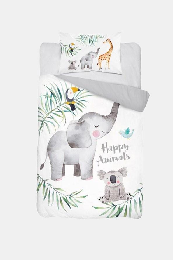 Bambusové obliečky do detskej postieľky Happy Animals