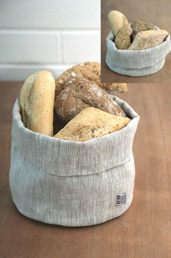 Ľanový košík na pečivo Home Design