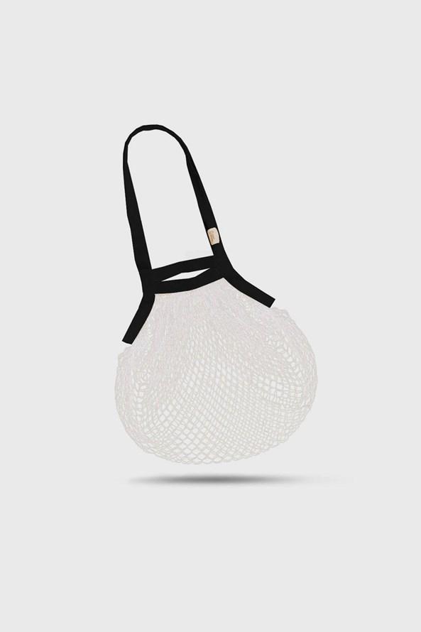 Bielo-čierna taška cez rameno Česká síťovka