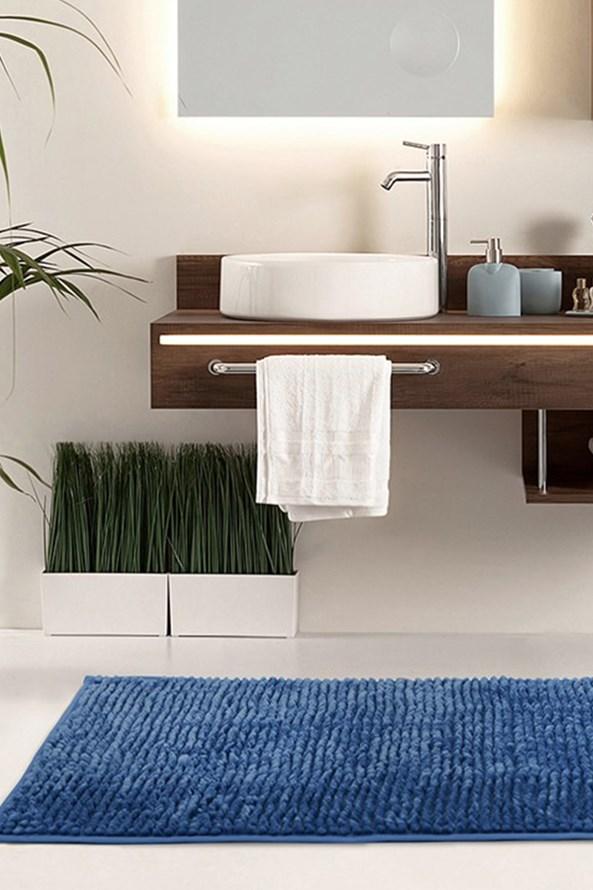 Kúpeľňová predložka Bati modrá