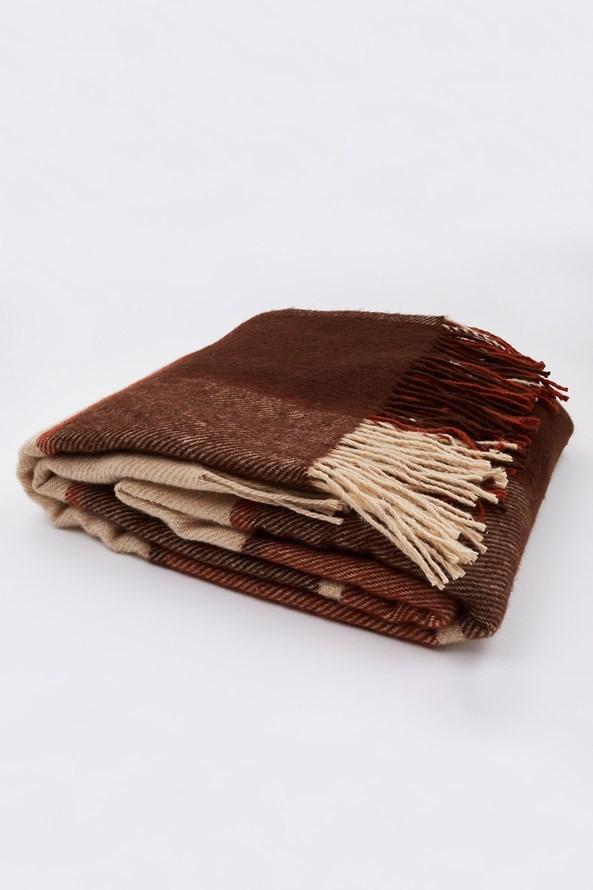 Luxus pléd új-zélandi gyapjúból, barna