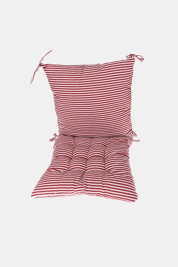 Komplet sedáku s vankúšom červeno-biely