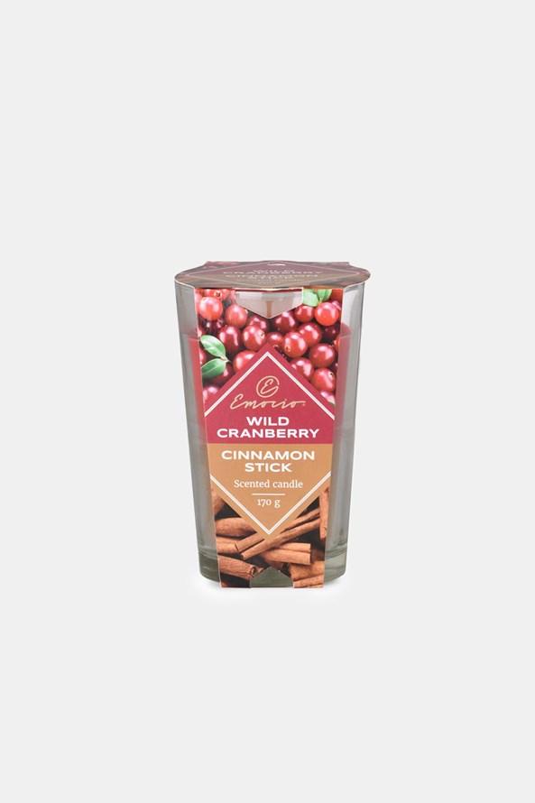 Wild Cranberry and Cinnamon Stick illatos gyertya, kétszínű