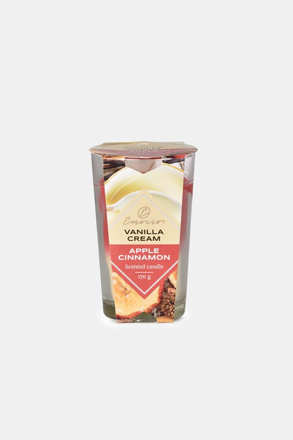 Vanilla Cream and Apple Cinnamon illatos gyertya, kétszínű
