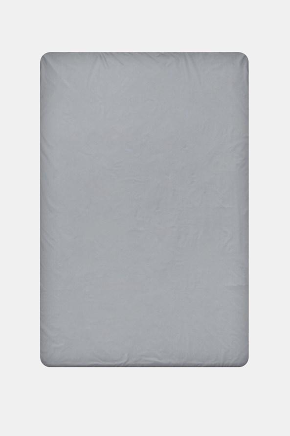 Napínacie bavlnené prestieradlo sivé