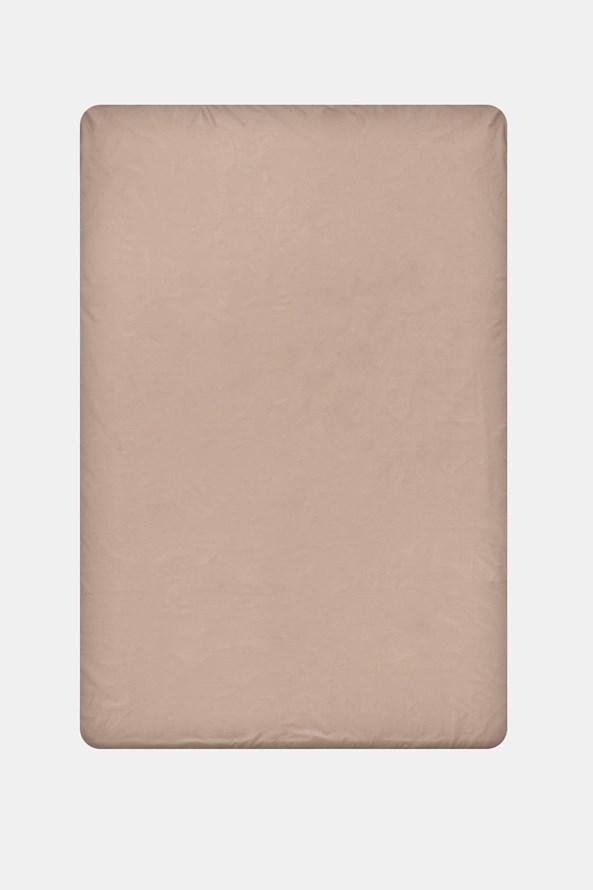 Pamut lepedő gumírozott szélek nélkül, bézs