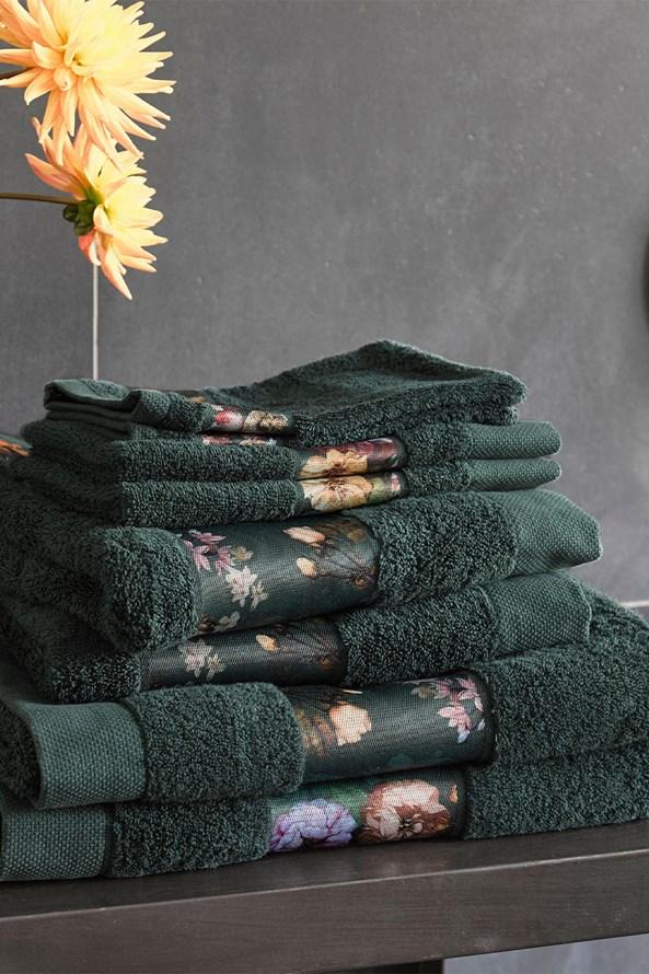 Uterák Essenza Home Fleur tmavozelený