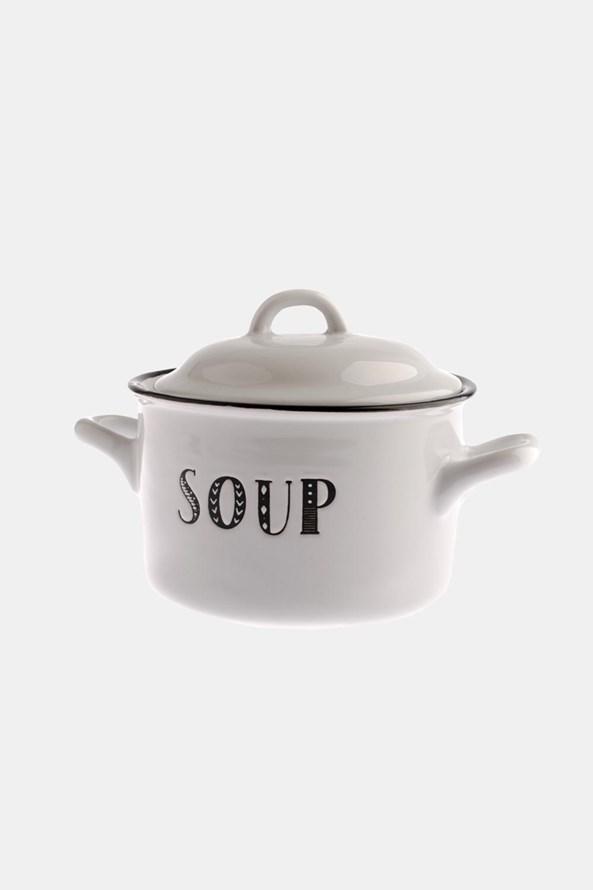 Keramický hrnček na polievku