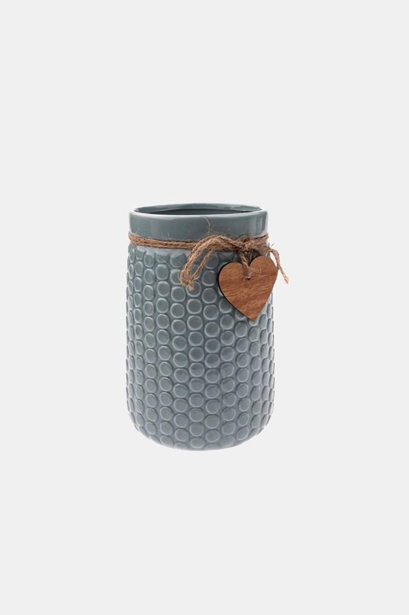 Keramická váza sivá