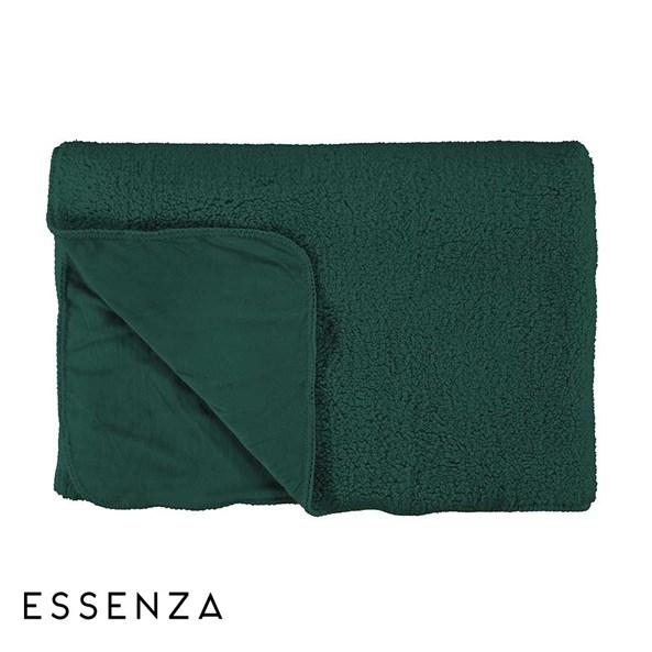 Prikrývka na posteľ Essenza Home Lammy zelená