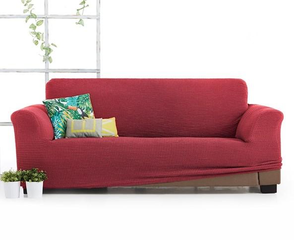 Milos háromszemélyes kanapéhuzat, piros