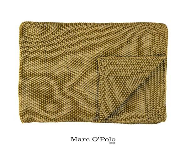 Pletený pléd Marc O Polo Nordic Oil Yellow