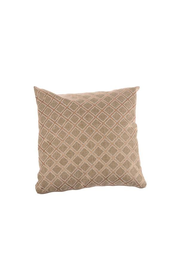 Dekoratívna obliečka na vankúš hnedá vzorovaná