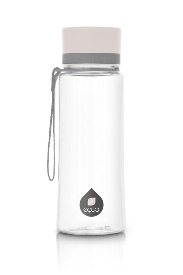 EQUA Plain White műanyag palack, 600 ml