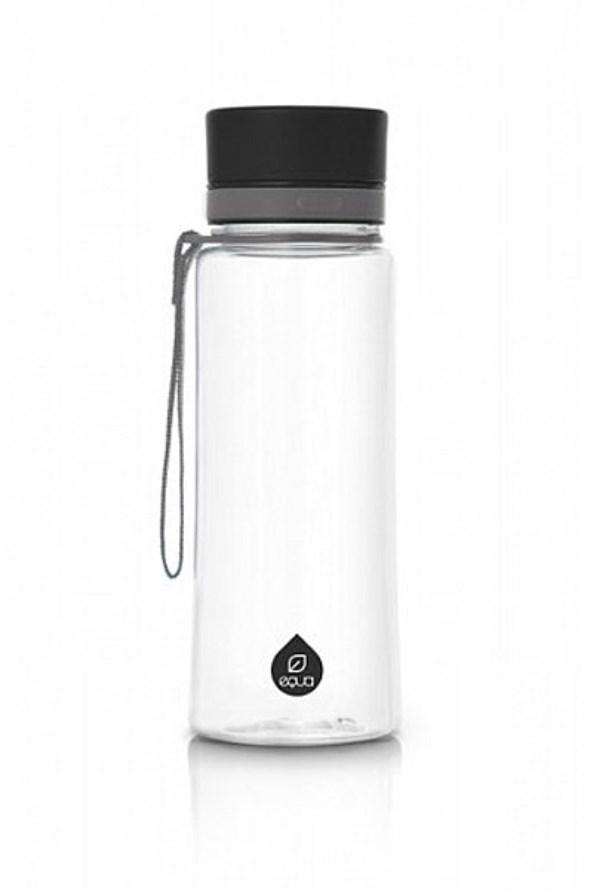 Plastová fľaša EQUA Plain Black 600 ml