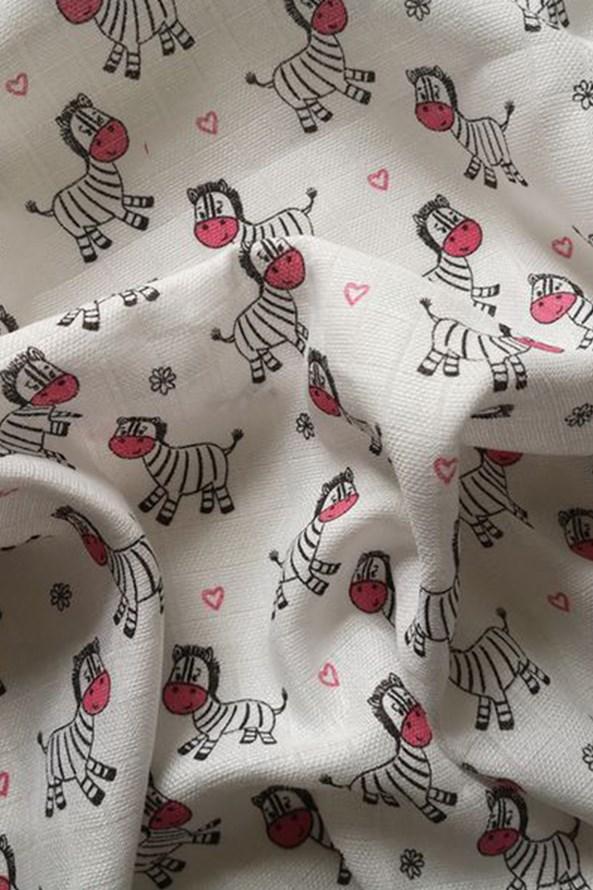 Detská plienka Zebra ružová