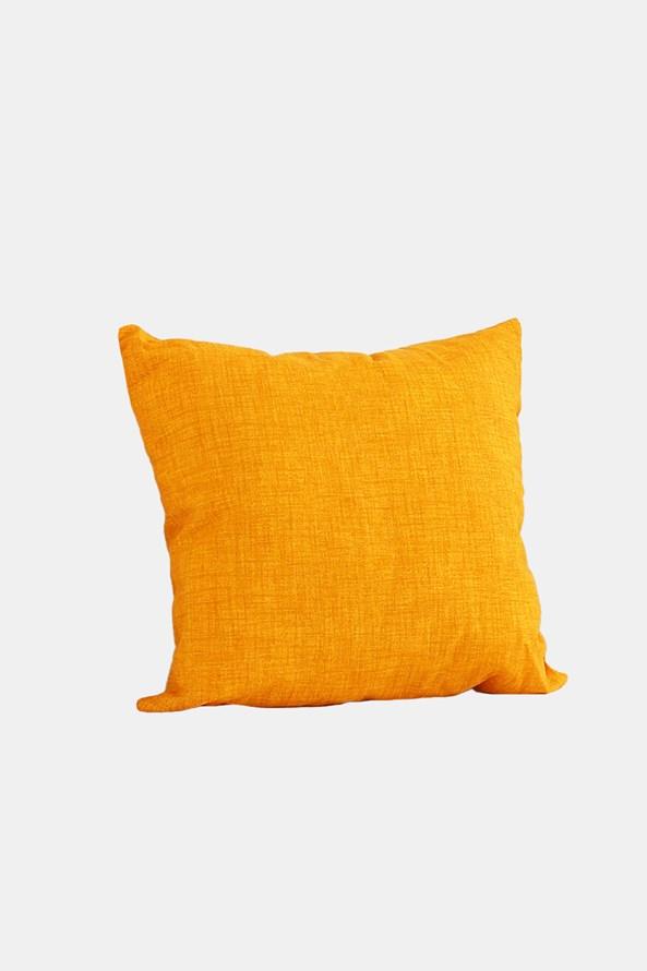 Dekoračný vankúš s výplňou žltý