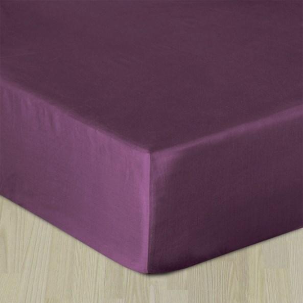 Sima pamut szatén lepedő lila