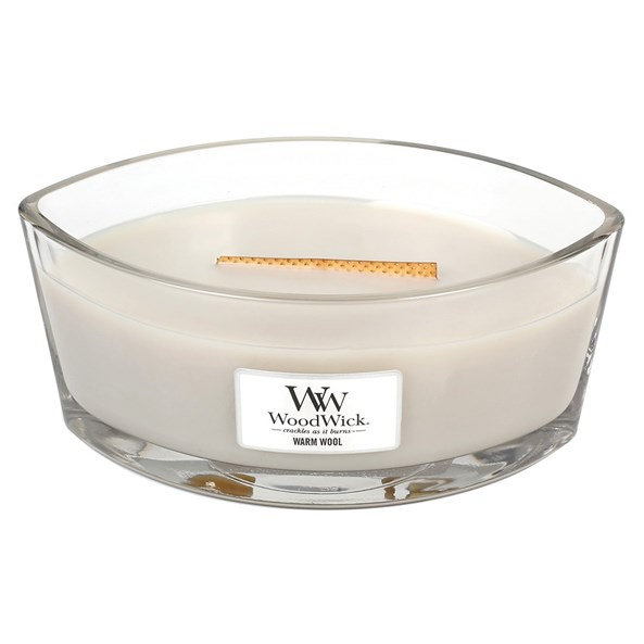 WoodWick sviečka loď Warm Wool