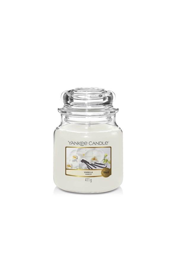 Sviečka Yankee Candle Vanilla stredná
