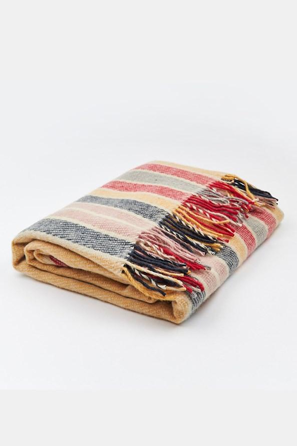 Luxusná deka z novozélandskej vlny farebná