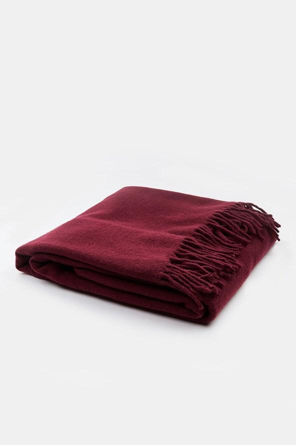 Luxusná deka Merino vínová
