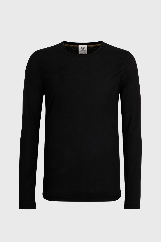 CECEBA Pánske tričko čierne dlhý rukáv
