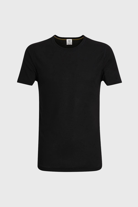 CECEBA Pánske tričko čierne krátky rukáv