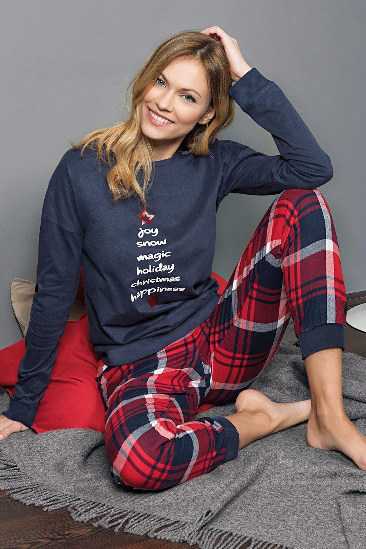 Jadea Dámske pyžamo Christmas modrá M