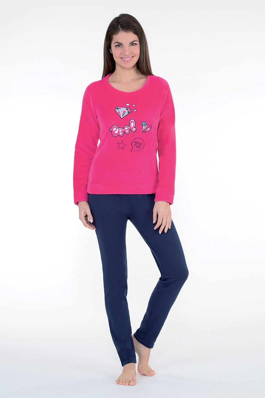 Dámske hrejivé pyžamo Badge ružové