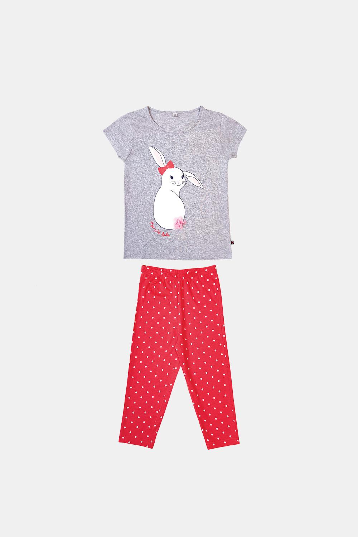 Dodo Dievčenské pyžamo Buny sivo-oranžové viacfarebná 3