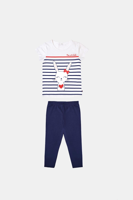 Dodo Dievčenské pyžamo Buny modré modrá 4