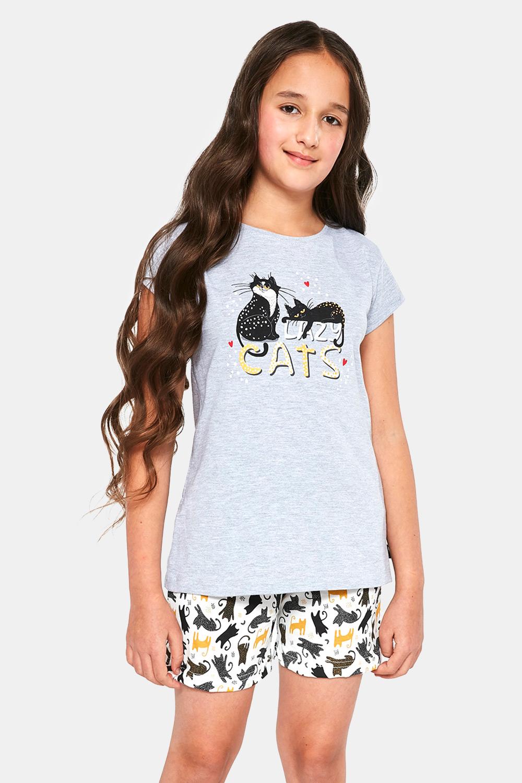 Cornette Dievčenské pyžamo Cats