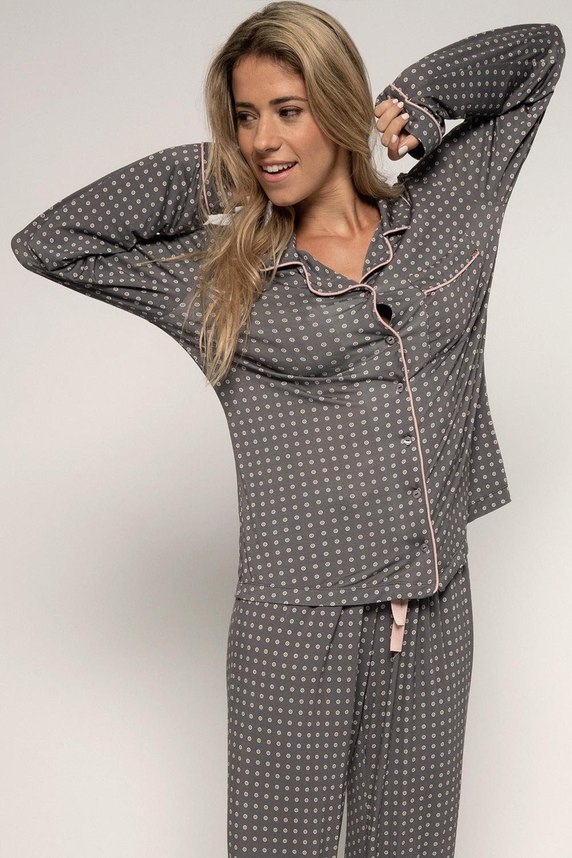 Dorina Dámsky pyžamový kabátik Esme farebná XS