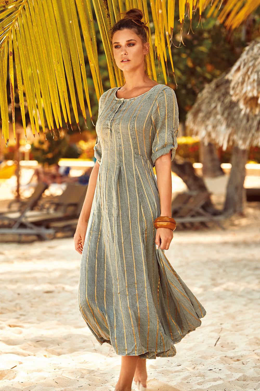 David Beachwear Plážové šaty Fifi khaki M