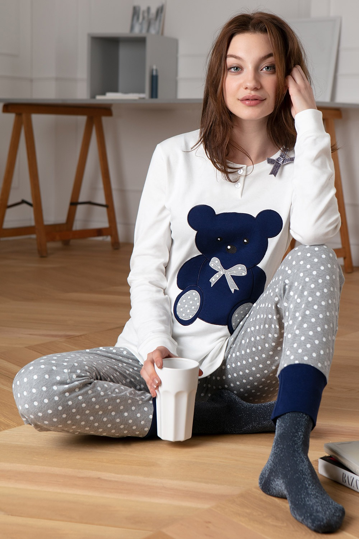 Dámske bavlnené pyžamo Bear