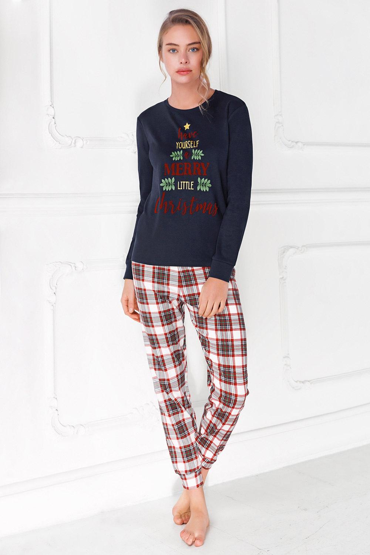 Coveri Dámske pyžamo Merry Christmas modrá L