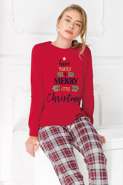 Coveri Dámske pyžamo Merry Christmas červená M