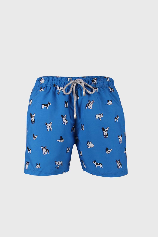 John Frank Modré plavkové šortky Bulldog modrá L