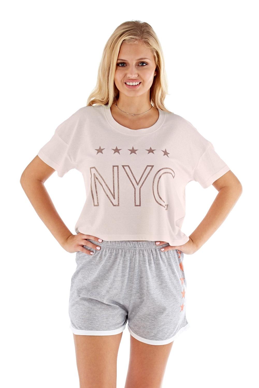 Dámske pyžamo NYC ružové