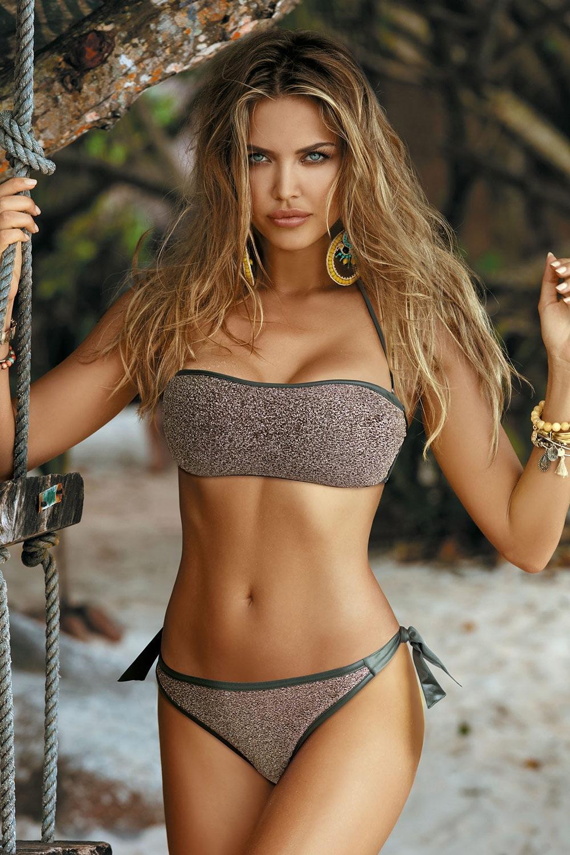 Etna Dámske dvojdielne plavky Mia gold zlatá 36